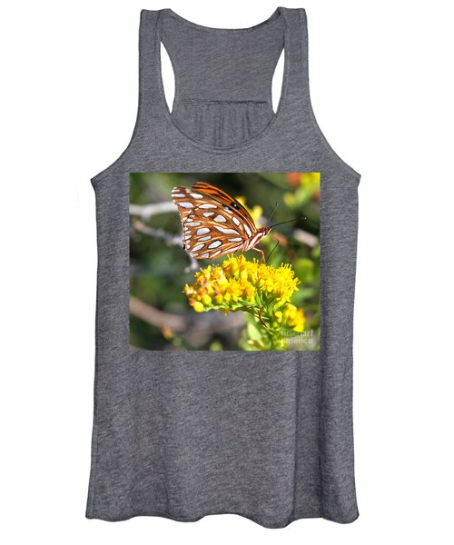 Gulf Fritillary On A Flower Women's Tank Top
