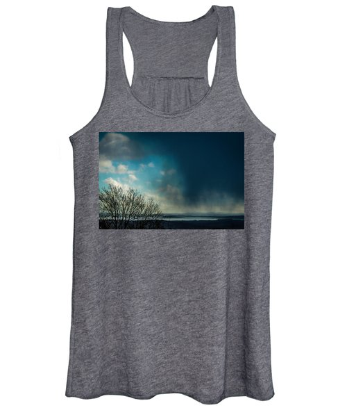 Women's Tank Top featuring the photograph Hail Storm Obscures Ireland's Blue Sky by James Truett