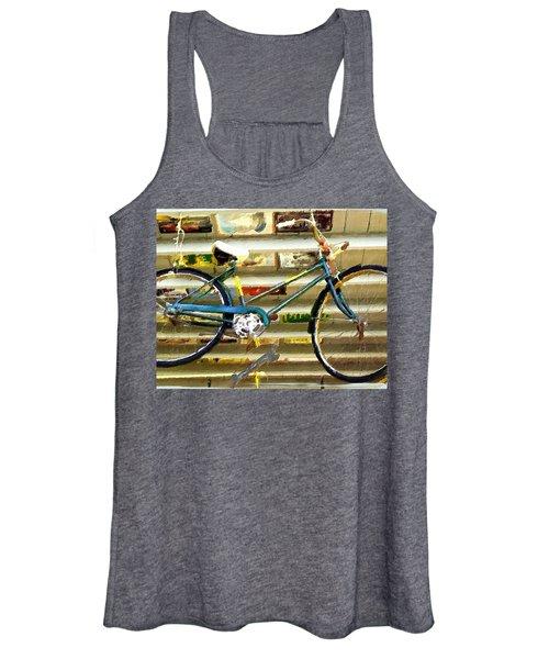 Hanging Bike Women's Tank Top