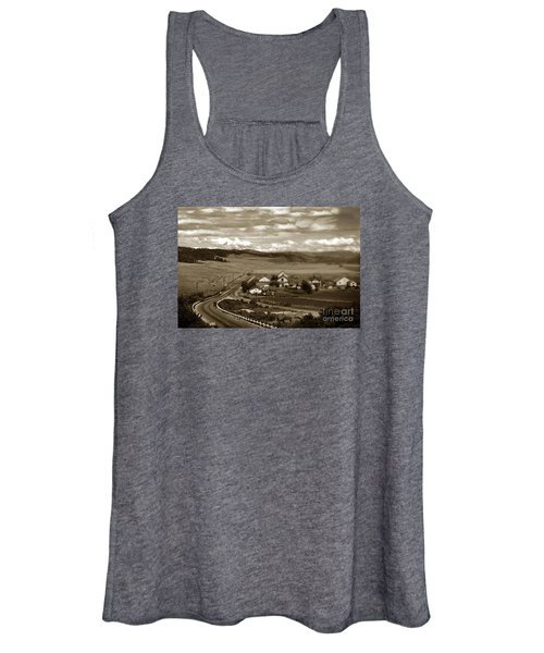 Hatton Ranch Carmel Valley From Highway One California  1940 Women's Tank Top