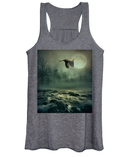 Heron By Moonlight Women's Tank Top