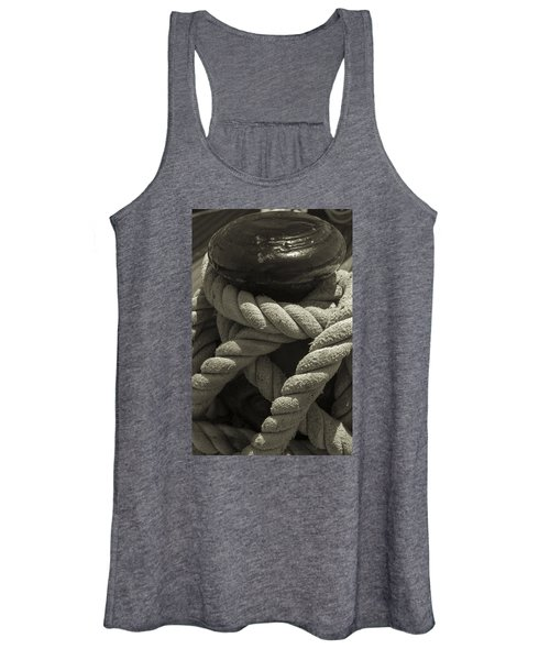 Hold On Black And White Sepia Women's Tank Top