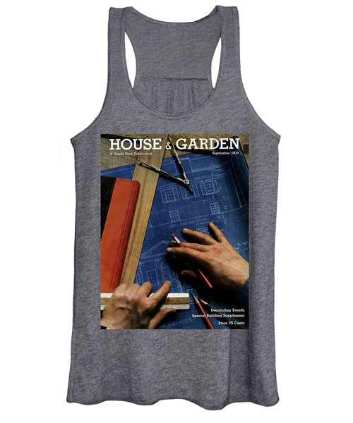 House And Garden Cover Of A Person Women's Tank Top