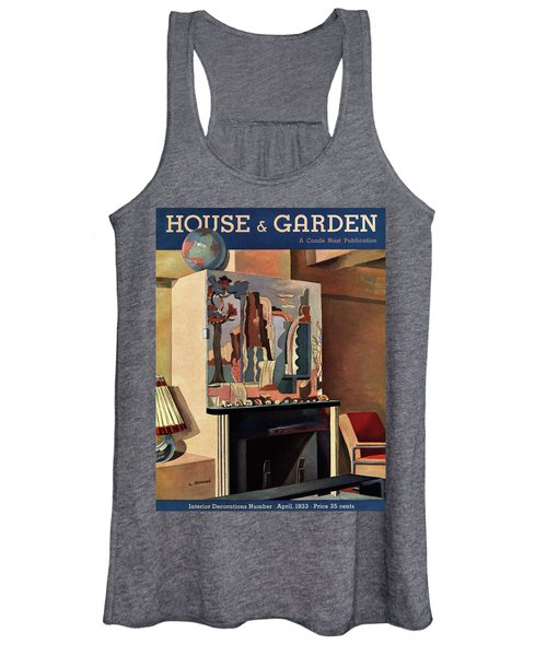 House And Garden Interior Decoration Number Cover Women's Tank Top