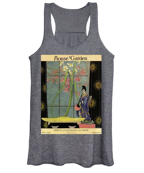 House And Garden Spring Furnishing Number Cover Women's Tank Top