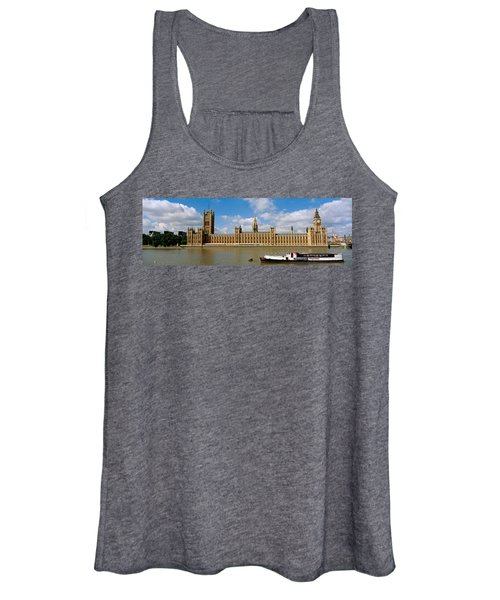 Houses Of Parliament, Water And Boat Women's Tank Top