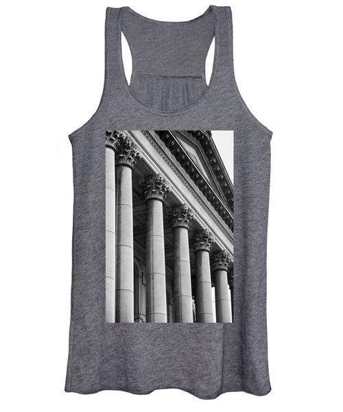 Illinois Capitol Columns B W Women's Tank Top