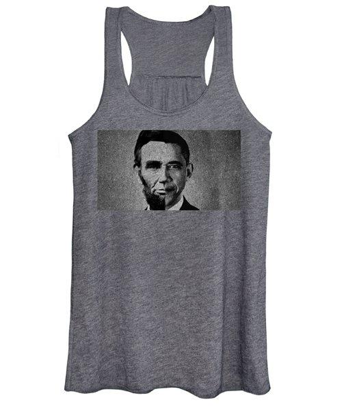Impressionist Interpretation Of Lincoln Becoming Obama Women's Tank Top