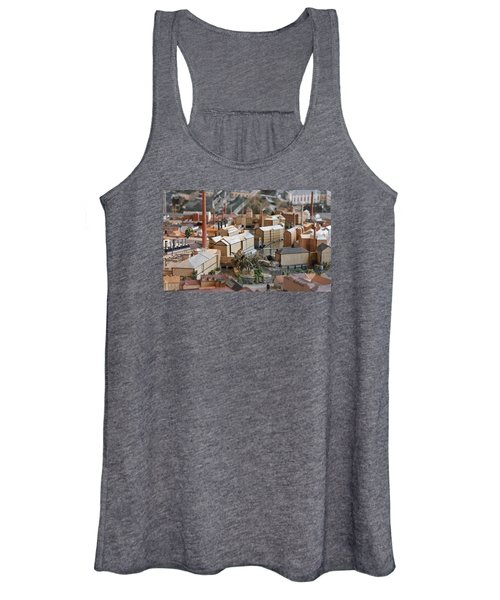 Industrial Town Miniature Model Women's Tank Top