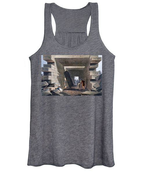 Interior Of The Temple Of Jupiter Women's Tank Top