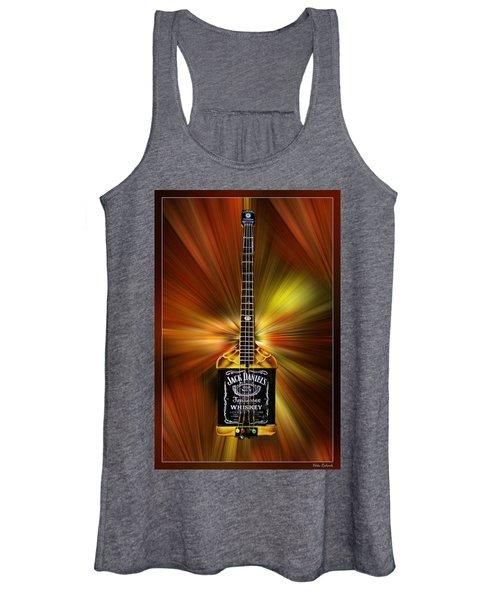 Jack Daniels Whiskey Guitar Women's Tank Top