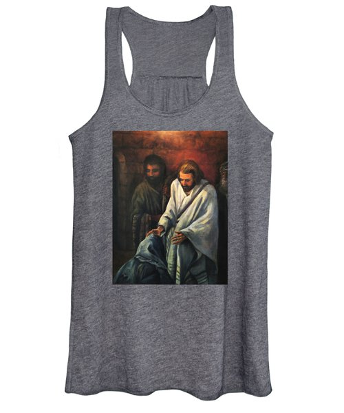 Jesus Healing Beggar Women's Tank Top