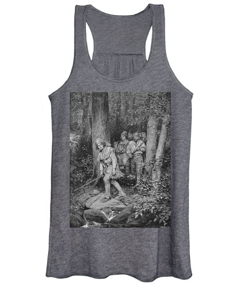 Joseph Brown Leading His Company To Nicojack, The Stronghold Of The Chickamaugas, Engraved Women's Tank Top