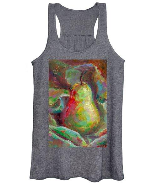 Just A Pear - Impressionist Still Life Women's Tank Top