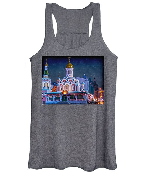 Kazan Cathedral. Red Square. Moscow Russia Women's Tank Top