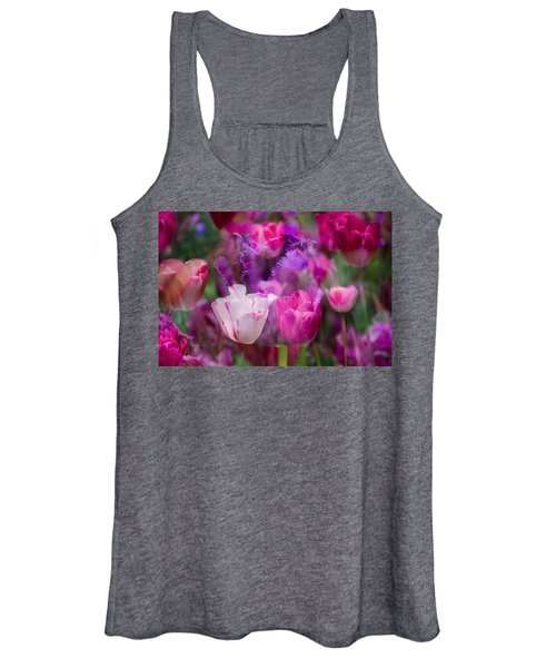 Layers Of Tulips Women's Tank Top
