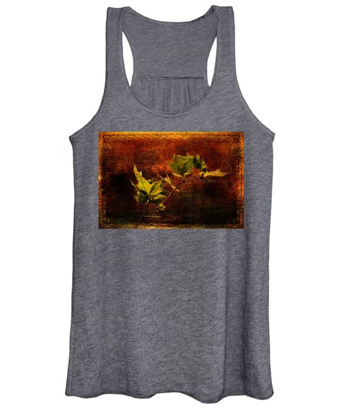 Leaves On Texture Women's Tank Top
