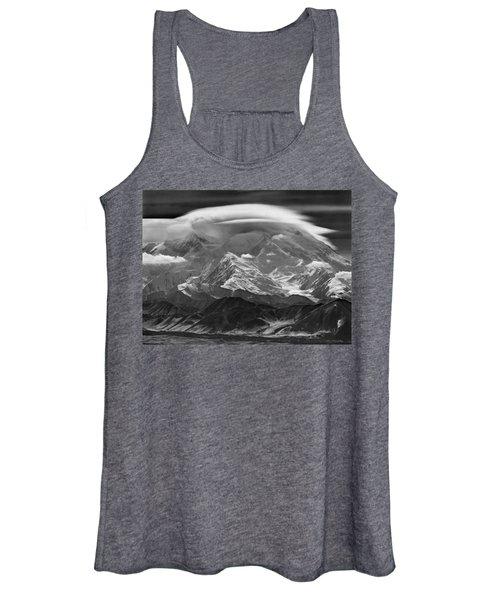 101366-lenticular Cloudcap Over Mt. Mckinley Women's Tank Top