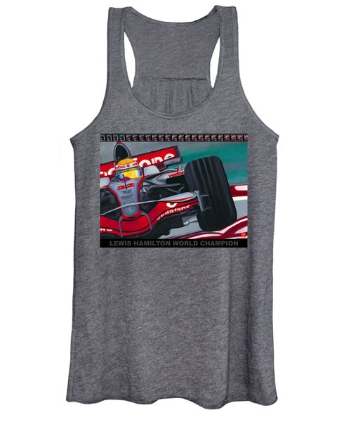 Lewis Hamilton F1 World Champion Pop Women's Tank Top