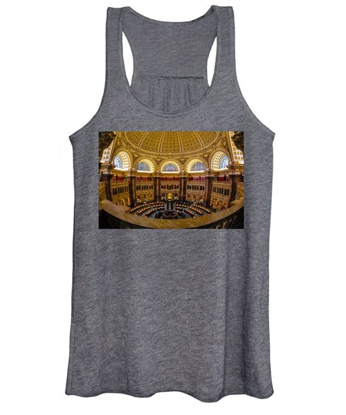 Library Of Congress Main Reading Room Women's Tank Top