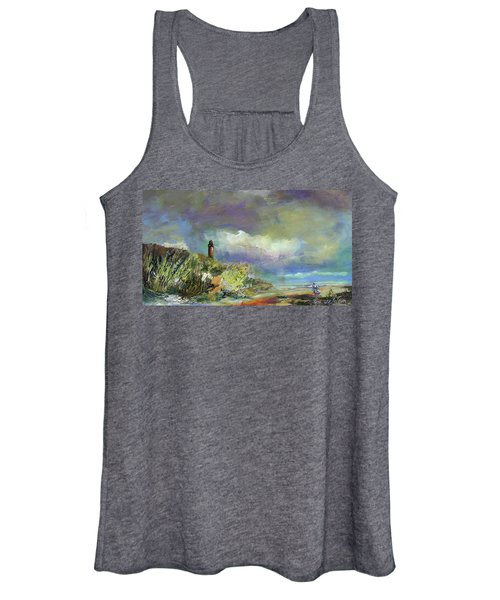 Lighthouse And Fisherman Women's Tank Top