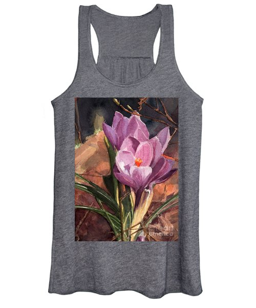 Lilac Crocuses Women's Tank Top