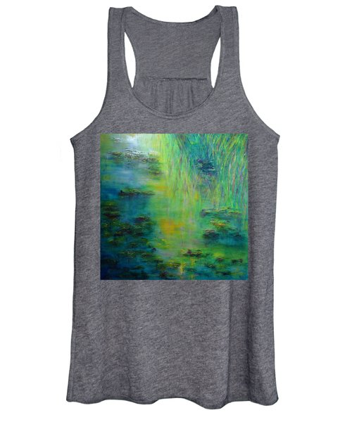Lily Pond Tribute To Monet Women's Tank Top