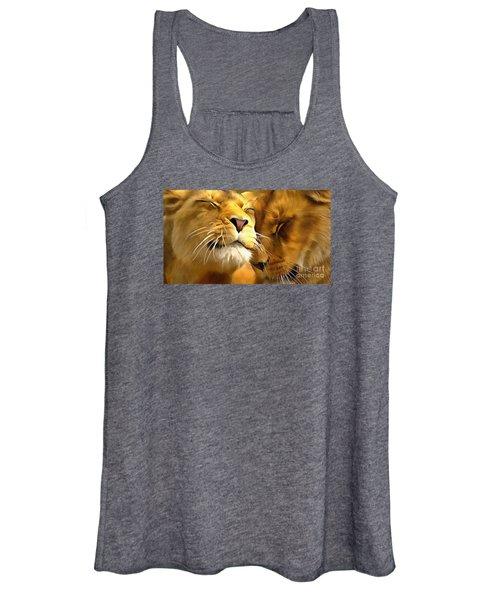 Lions In Love Women's Tank Top