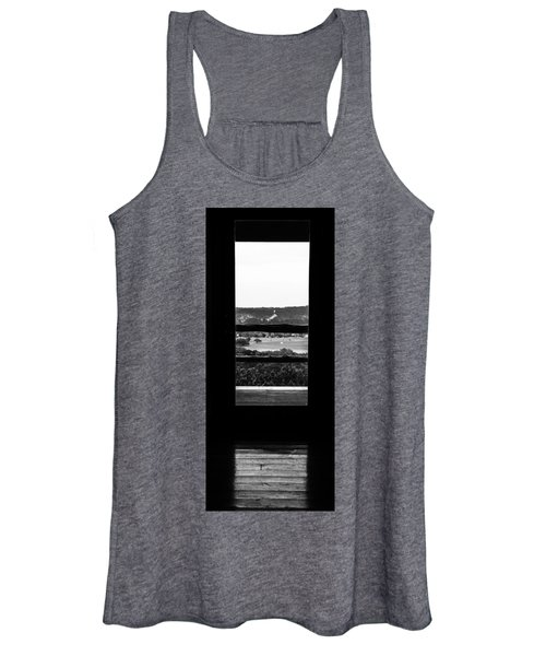 Looking Out A Country Door. Women's Tank Top