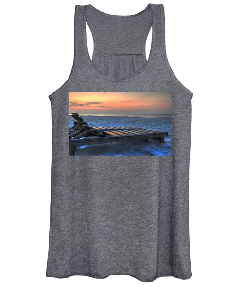 Lounge Closeup On Beach ... Women's Tank Top