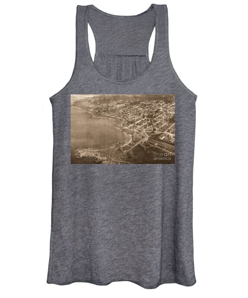Aerial Of Lovers Point And Pacific Grove California July 10 1906 Women's Tank Top