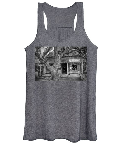 Luckenbach 2 Black And White Women's Tank Top