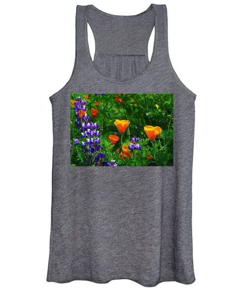 Lupines And Poppies Women's Tank Top