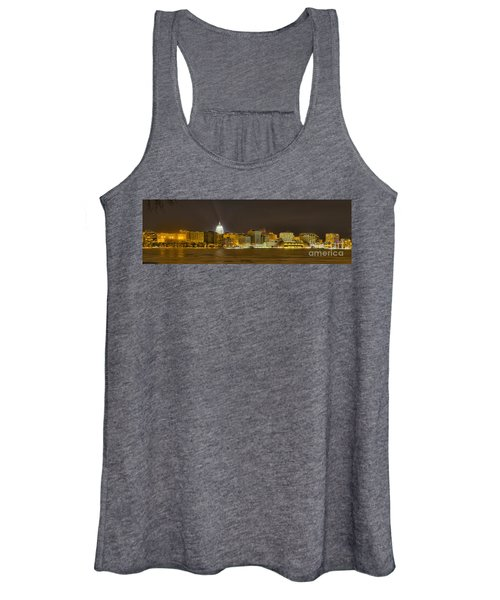 Madison - Wisconsin City  Panorama - No Fireworks Women's Tank Top