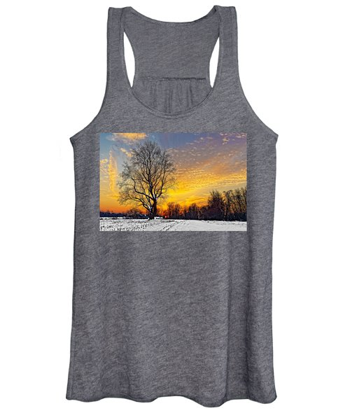 Magical Winter Sunset Women's Tank Top