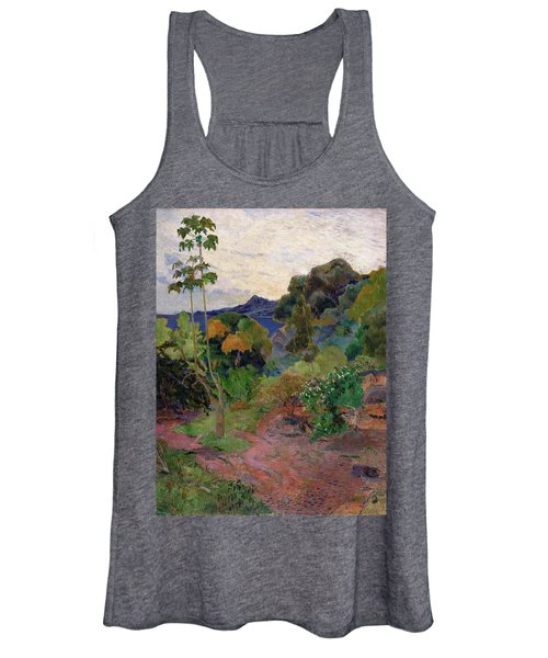 Martinique Landscape, 1887 Oil On Canvas Women's Tank Top