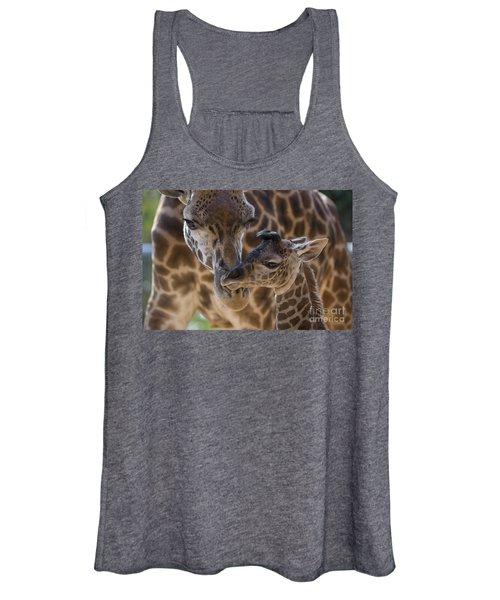 Masai Giraffe And Calf Women's Tank Top