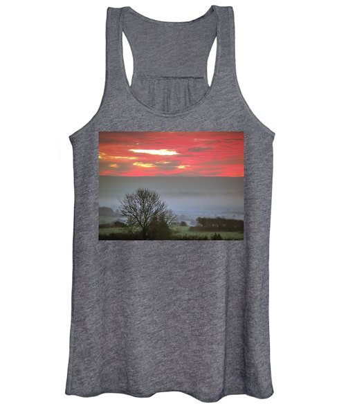Women's Tank Top featuring the photograph Misty Morning Sunrise Over Western Ireland by James Truett