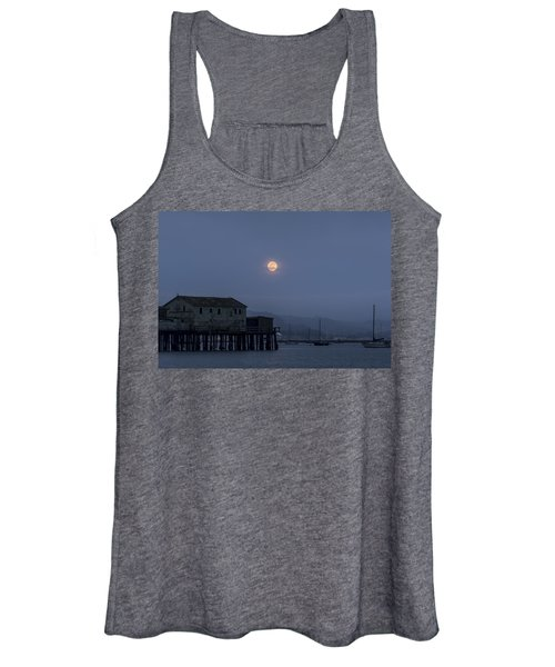 Moonrise Over The Harbor Women's Tank Top