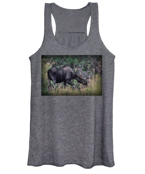 Moose In The Meadow Women's Tank Top