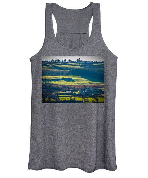 Women's Tank Top featuring the photograph Morning Shadows Over Irish Countryside by James Truett