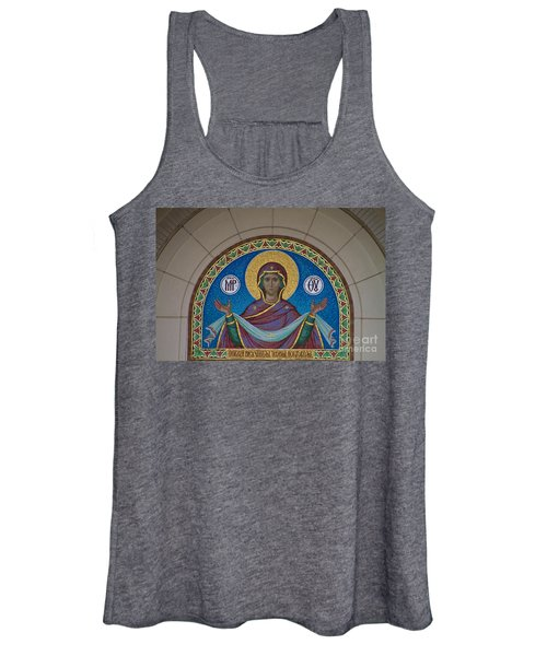 Mother Of God Mosaic Women's Tank Top
