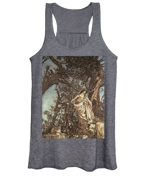 Never So Weary Never So Woeful Illustration To A Midsummer Night S Dream Women's Tank Top