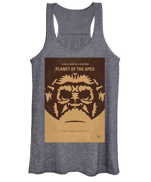 No270 My Planet Of The Apes Minimal Movie Poster Women's Tank Top
