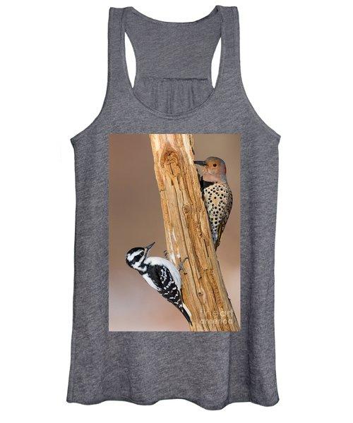 Northern Flicker And Hairy Woodpecker Women's Tank Top