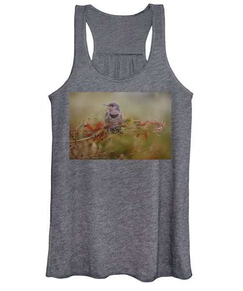 Northern Flicker In Fall Colors Women's Tank Top