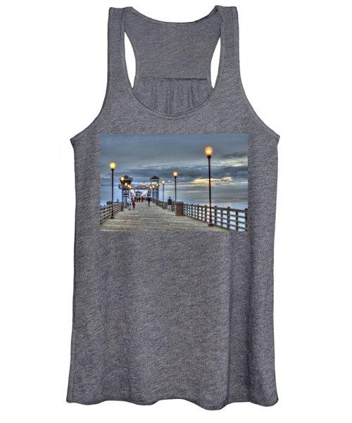 Oceanside Pier At Sunset Women's Tank Top