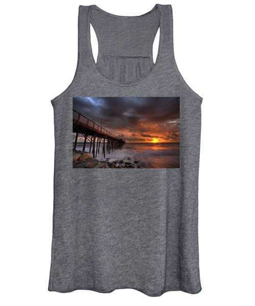 Oceanside Pier Perfect Sunset Women's Tank Top