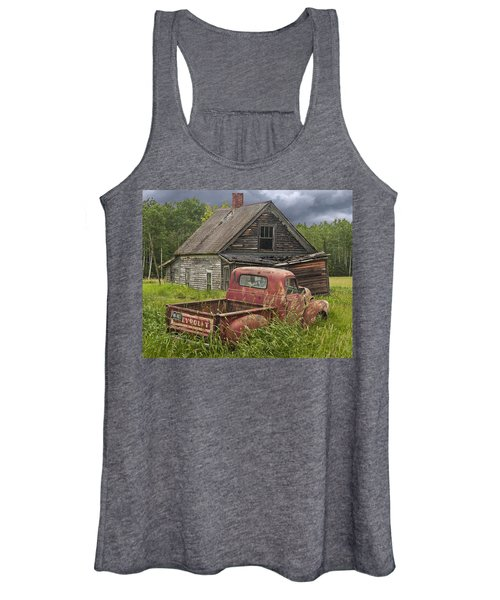 Old Abandoned Homestead And Truck Women's Tank Top