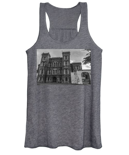 Old City Jail In Black And White Women's Tank Top
